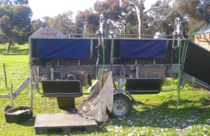 Perkinz crutching trailer