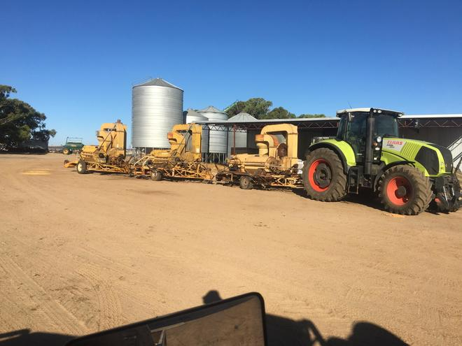 Horward Bagshaw Clover Harvesters  x  3