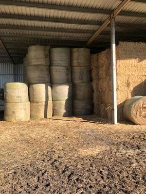 5x4 Net wrap rye clover hay