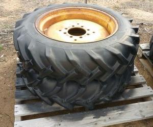 2 x 9-5/9x24 rims 7 tyres 7 centres