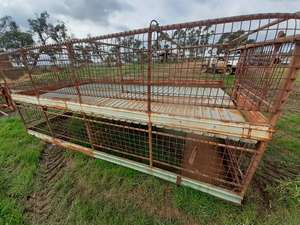 Under Auction - 14FT Two Deck Stock Crate - 2% + GST Buyers Premium On All Lots