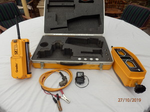 SPECTRA LASERPLANE GRADIO GO 12-970A WIRELESS RECIEVER AND IN CAB DISPLAY UNIT