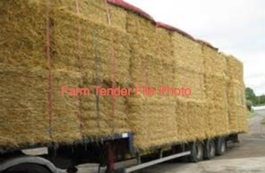 1 x B-Double Load of Frosted Wheaten Hay 8x4x3 Bales