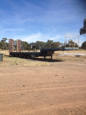 45' Drop Deck Trailer 3.5m Wide with Ramps & Gates