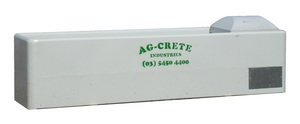CONCRETE AG-CRETE FEEDLOT WATER TROUGHS 10' / 3M - ENCLOSED PLUMBING - AG-CRETE