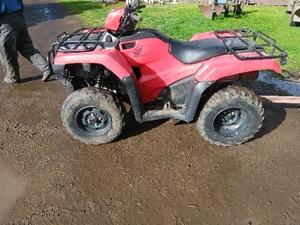 Under Auction - Honda 2016 ATV - 2% + GST Buyers Premium On All Lots