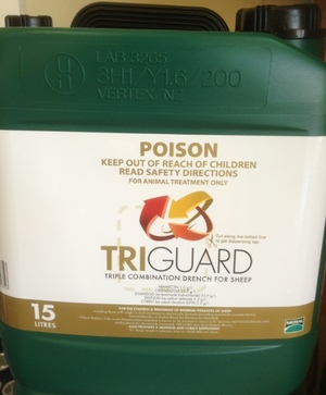 TRIGUARD 15L - Triple combination sheep drench