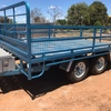 14 x 7 Flat Top Tandem Trailer with Sides - See Crate options