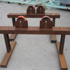 2 x Adjustable Pipe Roller Stands approx. 1200mm W x 56mm H
