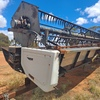 Gleaner R62 Combine with 30ft Tin Front + trailer