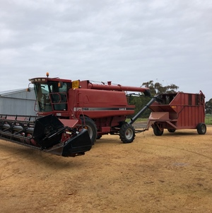 Case 2166 with Chaff cart