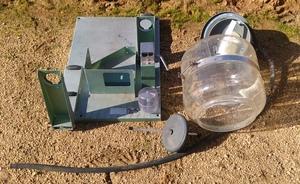 Westfalia MFN Glass Milk Receival Unit and Sanitary Trap.