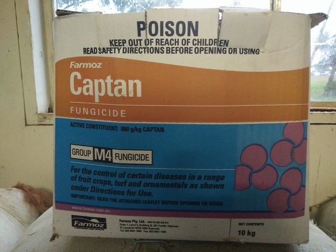 Captan Fungicide for almonds, fruit crops, turf and ornamentals