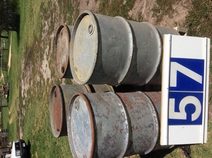 Under Auction - (A129) - 4 Heavy Duty Old Galvanized 44 Gallon Drums - 2% + GST Buyers Premium On All Lots