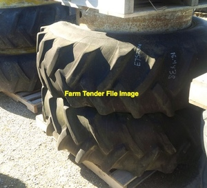 2x 18-4-30 Tractor Tyre with tubes to suit Vintage Tractor