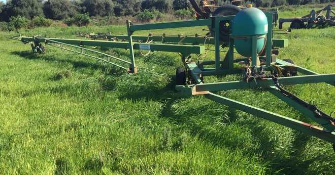 24 meter Gold Acres Ground Glider Trailing Boom Spray For Sale