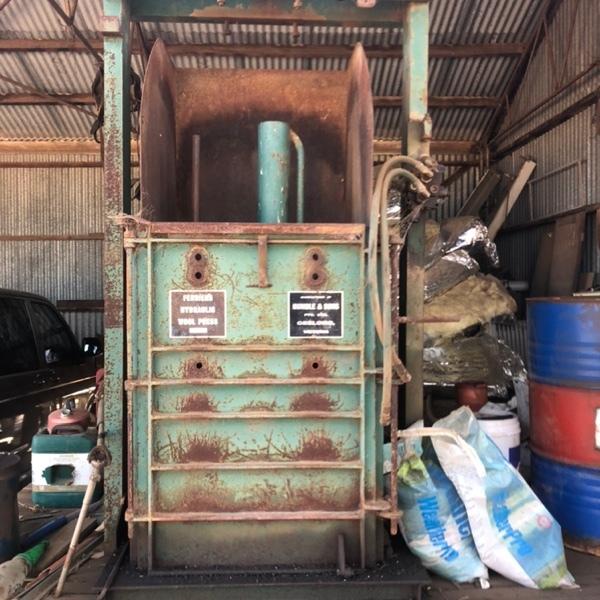 Ferrier wool press. NEG