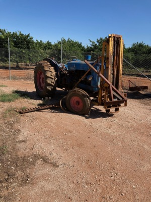 Fordson Major Tractor with Forklift Attachment