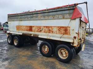 1989 Evertrans Quad Axle Dog Trailer