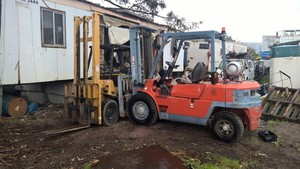CATERPILLAR GP40 4 TONNE DUAL FUEL FORKLIFT