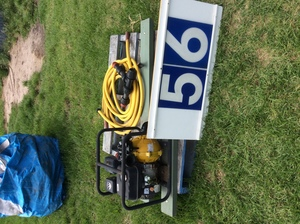 Under Auction - (A129) - Fire Fighting 7.5Hp Motor and Gear To Make a Trailer - 2% + GST Buyers Premium On All Lots