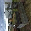 (A129) - 8 Ft x 6 Ft Tandem Trailer and Heavy Duty Crate