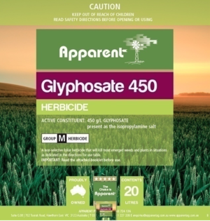 Apparent Glyphosate 450 1000L Shuttles