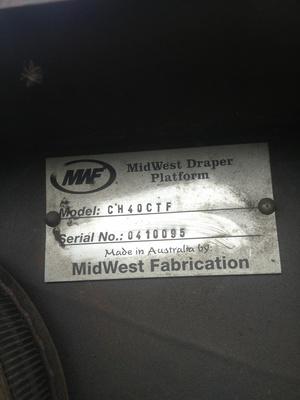 Midwest Crophawk  CH 40 Front  Suit John Deere 60/70 or S680